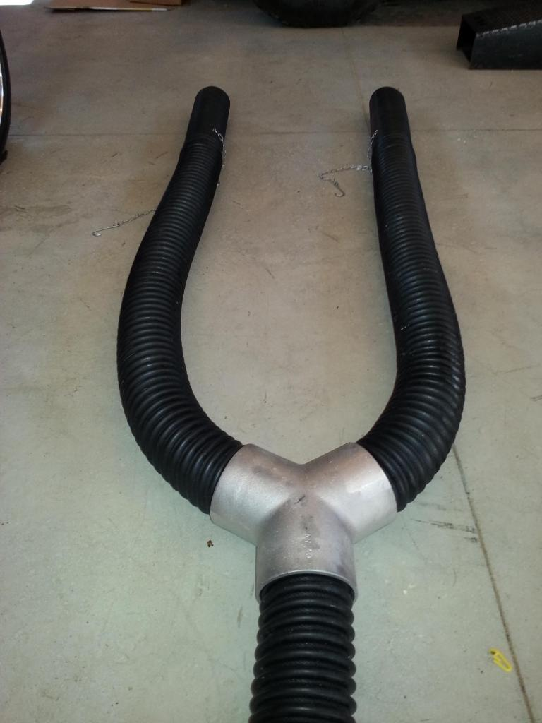 asp fume extraction exhaust p duct twin hose garage system